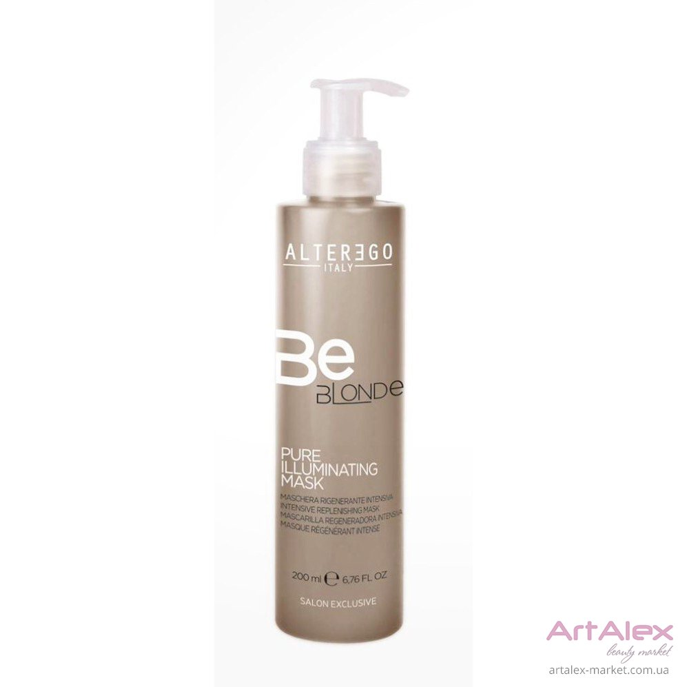 Маска для блондинок BeBlonde PURE ILLUMINATING MASK Alter Ego 200 мл